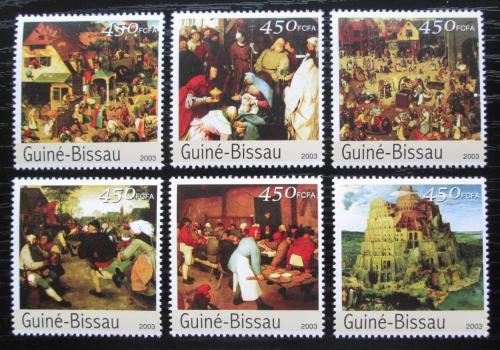 Poštovní známky Guinea-Bissau 2003 Umìní, Pieter Brueghel Mi# 2537-42 Kat 10€