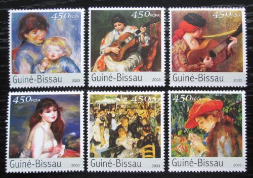 Poštovní známky Guinea-Bissau 2003 Umìní, Renoir Mi# 2676-81 Kat 10€