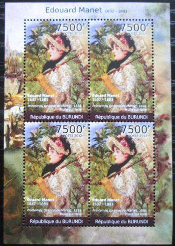 Poštovní známky Burundi 2012 Umìní, Edouard Manet Mi# 2375 Bogen Kat 9€