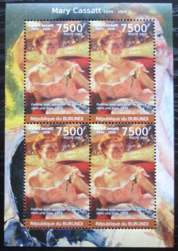 Poštovní známky Burundi 2012 Umìní, Mary Cassatt Mi# 2379 Bogen Kat 9€