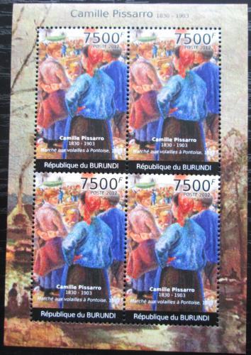 Poštovní známky Burundi 2012 Umìní, Camille Pissarro Mi# 2382 Bogen Kat 9€