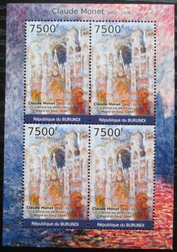 Poštovní známky Burundi 2012 Umìní, Claude Monet Mi# 2385 Bogen Kat 9€