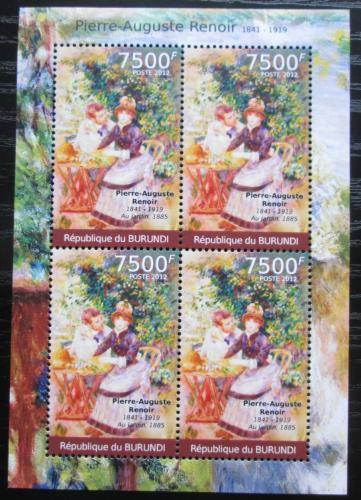 Poštovní známky Burundi 2012 Umìní, Pierre-Auguste Renoir Mi# 2378 Bogen Kat 9€