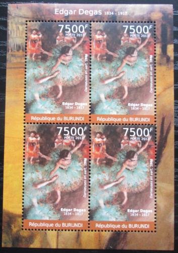 Poštovní známky Burundi 2012 Umìní, Edgar Degas Mi# 2383 Bogen Kat 9€