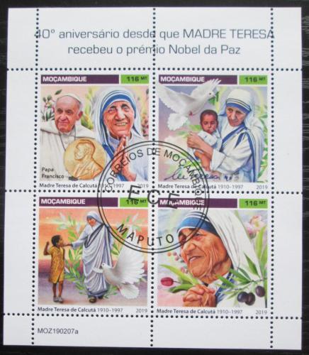 Poštovní známky Mosambik 2019 Matka Tereza Mi# N/N