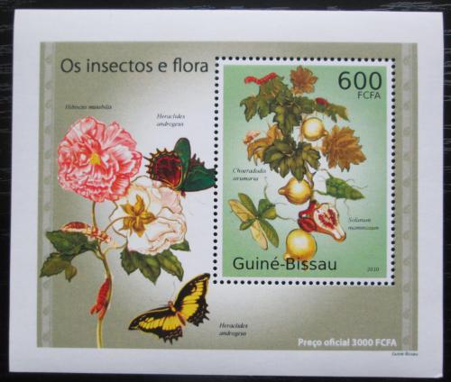 Poštovní známka Guinea-Bissau 2010 Hmyz a flóra DELUXE Mi# 5083 Block