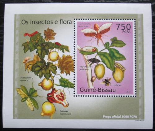 Poštovní známka Guinea-Bissau 2010 Hmyz a flóra DELUXE Mi# 5085 Block