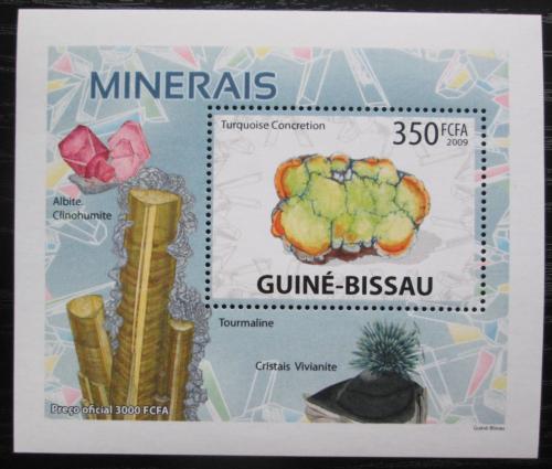 Poštovní známka Guinea-Bissau 2009 Minerály DELUXE Mi# 4098 Bogen