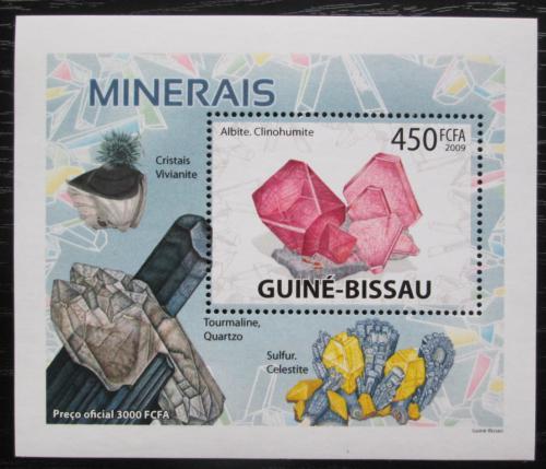 Poštovní známka Guinea-Bissau 2009 Minerály DELUXE Mi# 4099 Bogen