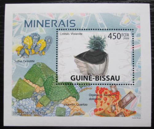 Poštovní známka Guinea-Bissau 2009 Minerály DELUXE Mi# 4100 Bogen