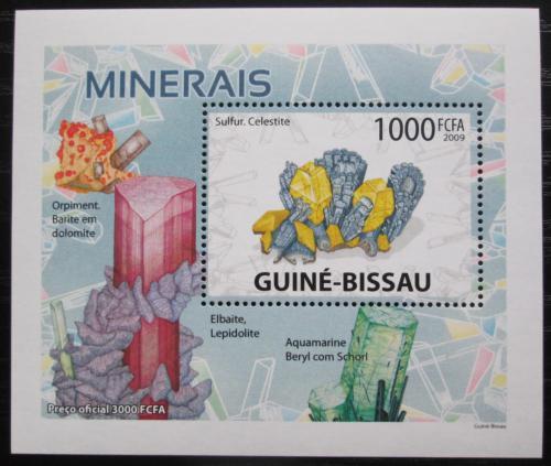 Poštovní známka Guinea-Bissau 2009 Minerály DELUXE Mi# 4101 Bogen