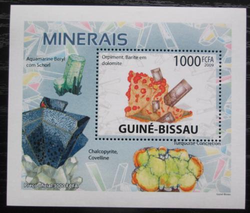 Poštovní známka Guinea-Bissau 2009 Minerály DELUXE Mi# 4102 Bogen