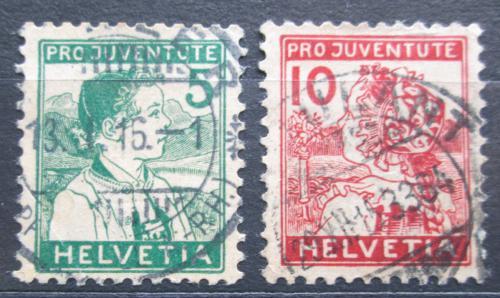 Poštovní známky Švýcarsko 1915 Lidové kroje TOP SET Mi# 128-29 Kat 110€