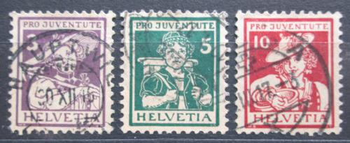 Poštovní známky Švýcarsko 1916 Lidové kroje TOP SET Mi# 130-32 Kat 150€