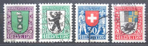 Poštovní známky Švýcarsko 1925 Mìstské znaky Mi# 214-17 Kat 18€