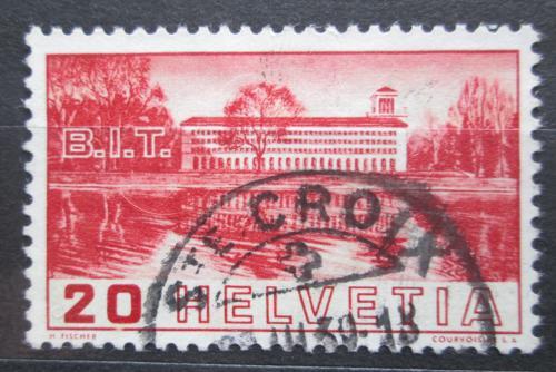 Poštovní známka Švýcarsko 1938 Budova Úøadu práce Mi# 321