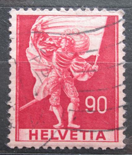 Poštovní známka Švýcarsko 1941 Vlajkonoš Mi# 381