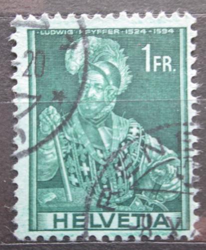 Poštovní známka Švýcarsko 1941 Ludwig Pfyffer Mi# 382