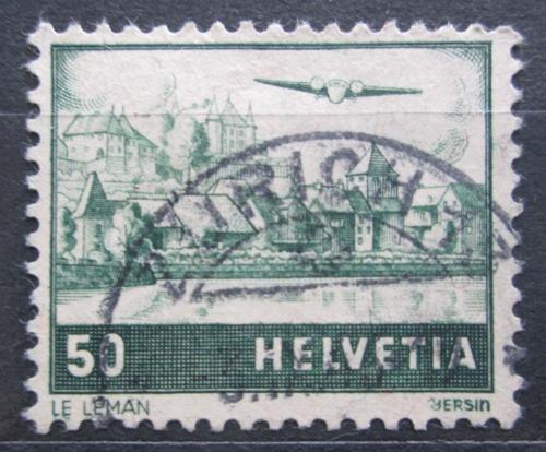 Poštovní známka Švýcarsko 1941 Letadlo nad Ženevským jezerem Mi# 389