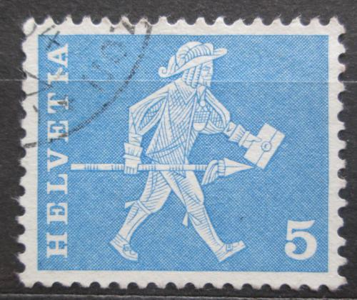Poštovní známka Švýcarsko 1960 Poštovní doruèovatel ve Freiburgu Mi# 696 x