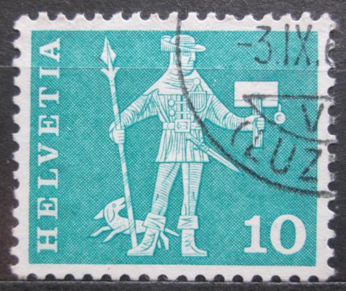 Poštovní známka Švýcarsko 1960 Poštovní doruèovatel ve Schwyz Mi# 697 x