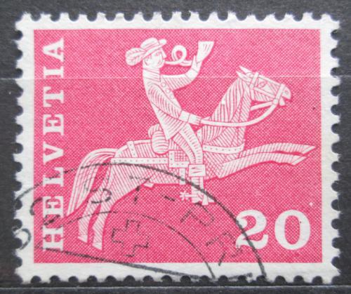 Poštovní známka Švýcarsko 1960 Poštovní doruèovatel na koni Mi# 699 x
