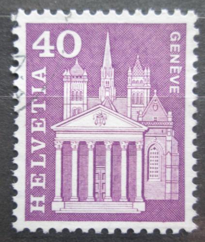 Poštovní známka Švýcarsko 1960 Katedrála v Ženevì Mi# 703 x