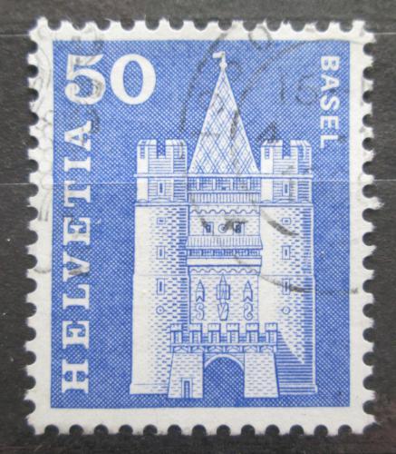Poštovní známka Švýcarsko 1960 Brána Spalen v Basileji Mi# 704 x