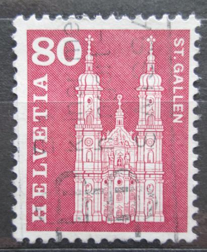 Poštovní známka Švýcarsko 1960 Katedrála v St. Gallen Mi# 708 x