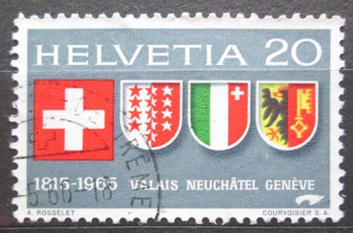 Poštovní známka Švýcarsko 1965 Znaky kantonù Mi# 819