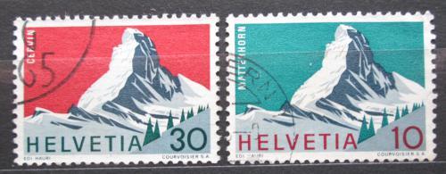 Poštovní známky Švýcarsko 1965 Matterhorn Mi# 820-21