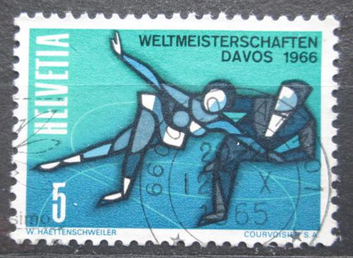 Poštovní známka Švýcarsko 1965 MS v krasobruslení Mi# 822