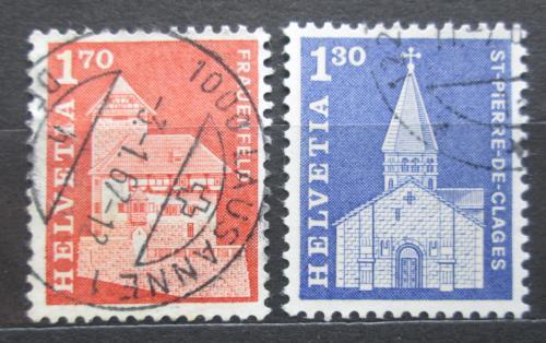 Poštovní známky Švýcarsko 1966 Architektura Mi# 831-32