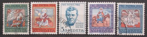 Poštovní známky Švýcarsko 1966 Nástropní malby Mi# 836-40
