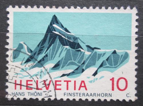 Poštovní známka Švýcarsko 1966 Finsteraarhorn Mi# 842