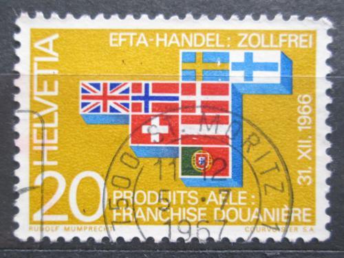 Poštovní známka Švýcarsko 1967 Vlajky èlenských státù EFTA Mi# 852