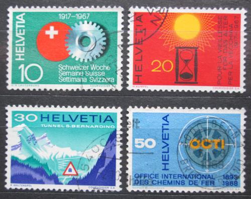 Poštovní známky Švýcarsko 1967 Výroèí a události Mi# 858-61