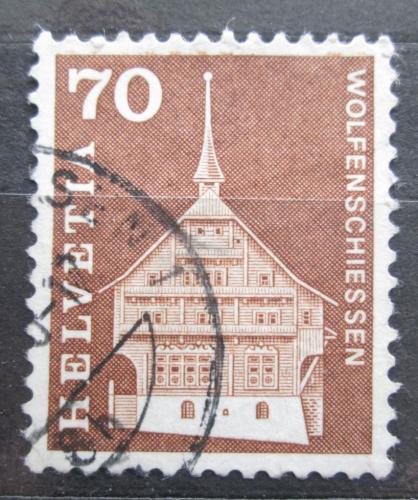 Poštovní známka Švýcarsko 1967 Architektura Mi# 862