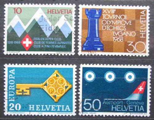 Poštovní známky Švýcarsko 1968 Výroèí a události Mi# 870-73