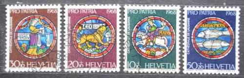 Poštovní známky Švýcarsko 1968 Náboženské umìní Mi# 874-77