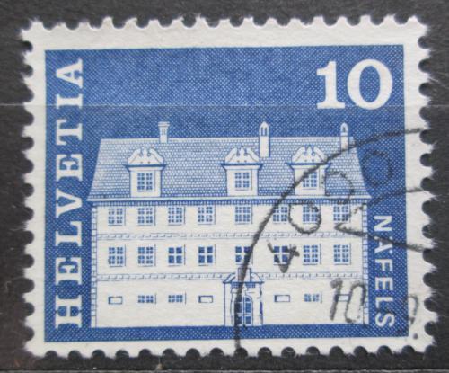 Poštovní známka Švýcarsko 1968 Palác Freuler v Näfels Mi# 879