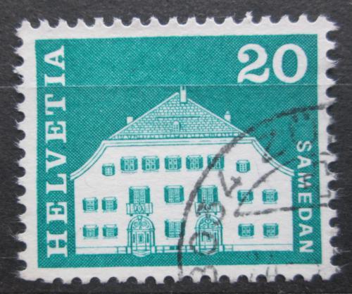 Poštovní známka Švýcarsko 1968 Dùm v Samedan Mi# 881