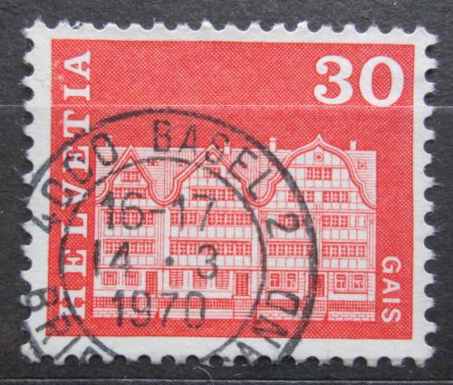 Poštovní známka Švýcarsko 1968 Dùm v Gais Mi# 882