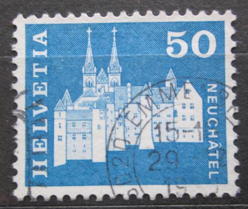 Poštovní známka Švýcarsko 1968 Zámek Neuchâtel Mi# 883
