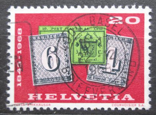 Poštovní známka Švýcarsko 1968 První známky, 125. výroèí Mi# 888