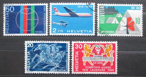 Poštovní známky Švýcarsko 1969 Výroèí a události Mi# 895-99