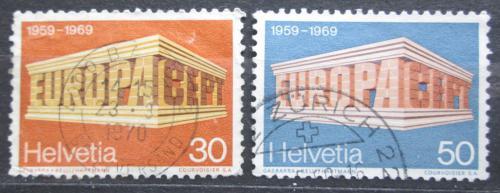 Poštovní známky Švýcarsko 1969 Evropa CEPT Mi# 900-01