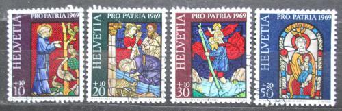 Poštovní známky Švýcarsko 1969 Náboženské umìní Mi# 902-05