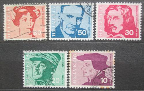 Poštovní známky Švýcarsko 1969 Osobnosti Mi# 906-10