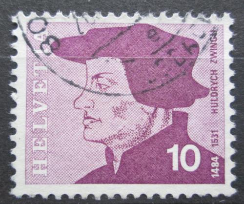 Poštovní známka Švýcarsko 1969 Huldrych Zwingli, reformátor Mi# 906